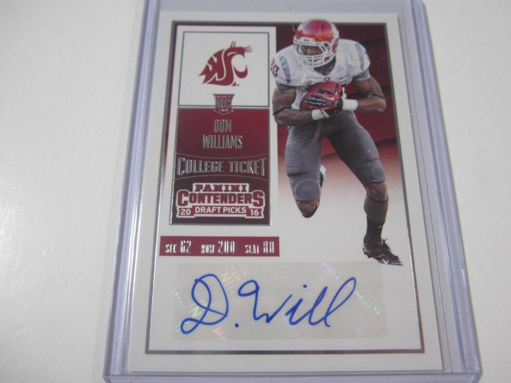 Dom Williams 2016 Contenders Rookie Ticket Autographed