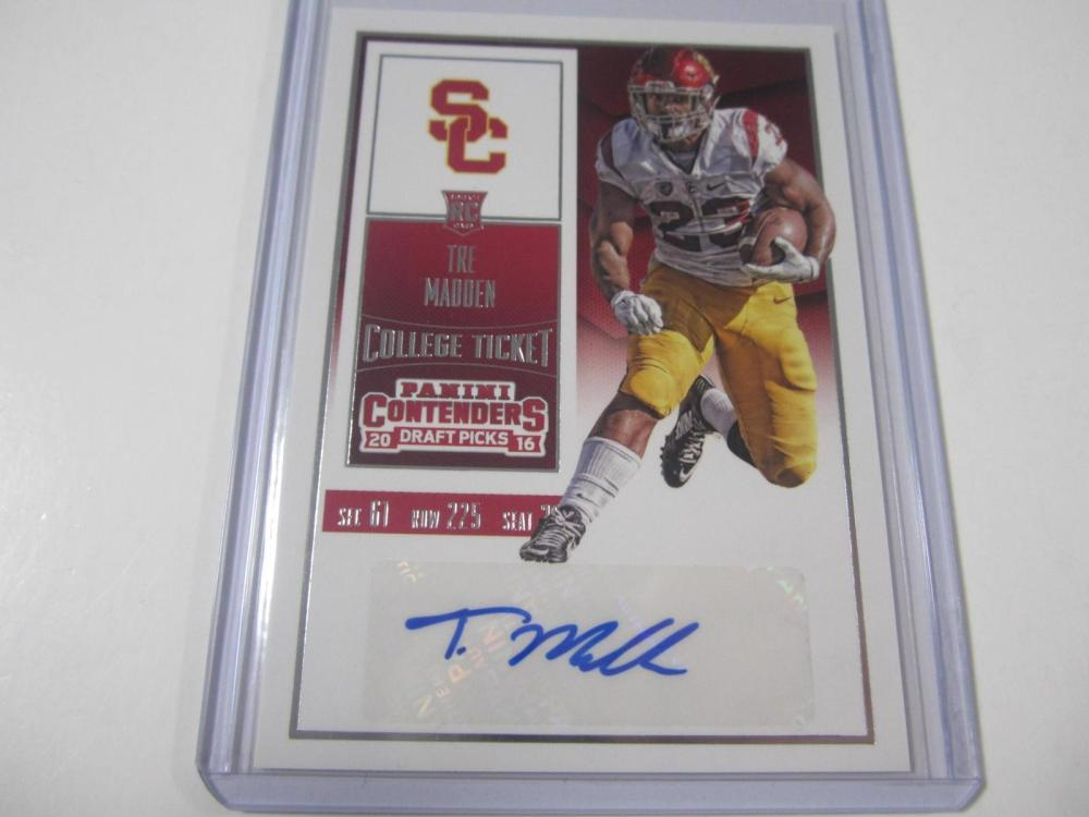 Tre Madden 2016 Contenders Rookie Ticket Autographed