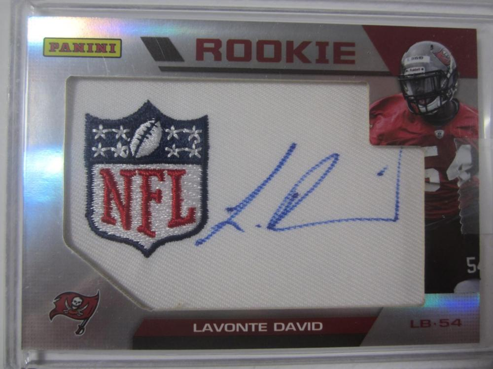 Lavonte David Tampa Buccaneers Hand Signed Autographed Piece of Jersey Rookie Card Certified