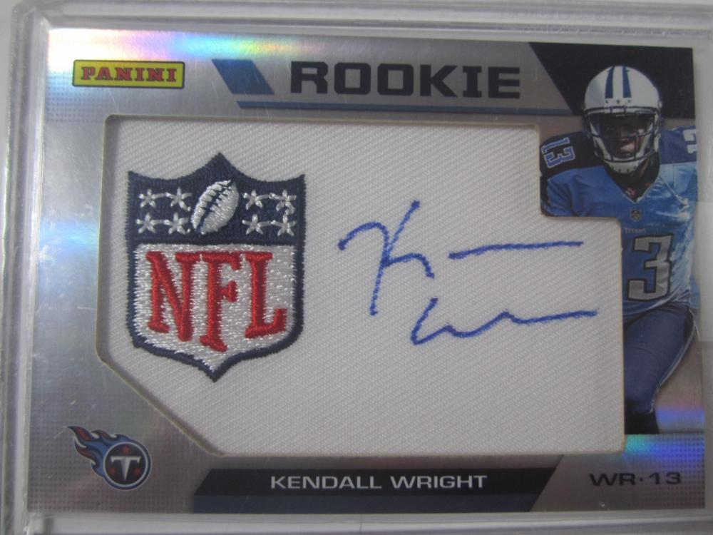 Kendall Wright Tennessee Titans Hand Signed Autographed Piece of Jersey Rookie Card Certified