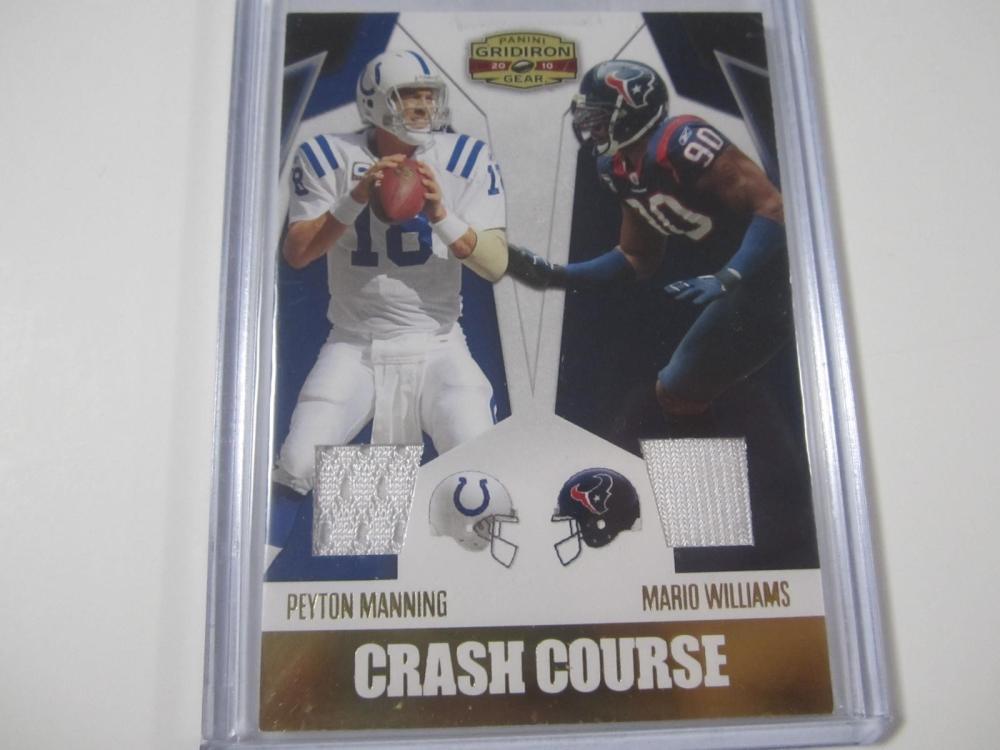 Peyton Manning/Mario Williams 2010 Panini Gridiron Piece of Jersey Card