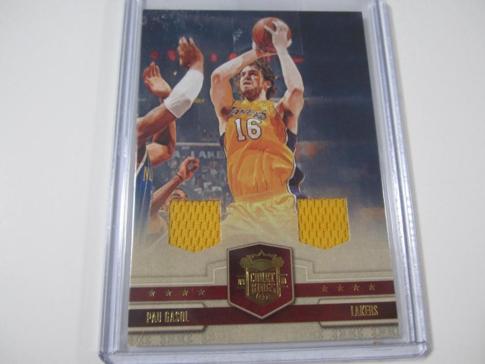 Pau Gasol Los Angeles Lakers 2009-10 Court Kings Piece of Jersey Card