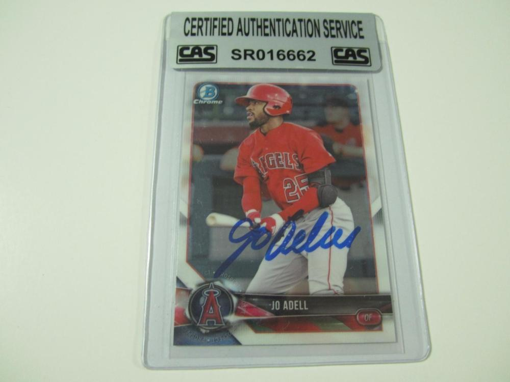 Jo Adell Angels Hand Signed Autographed Trading Card CAS Certified