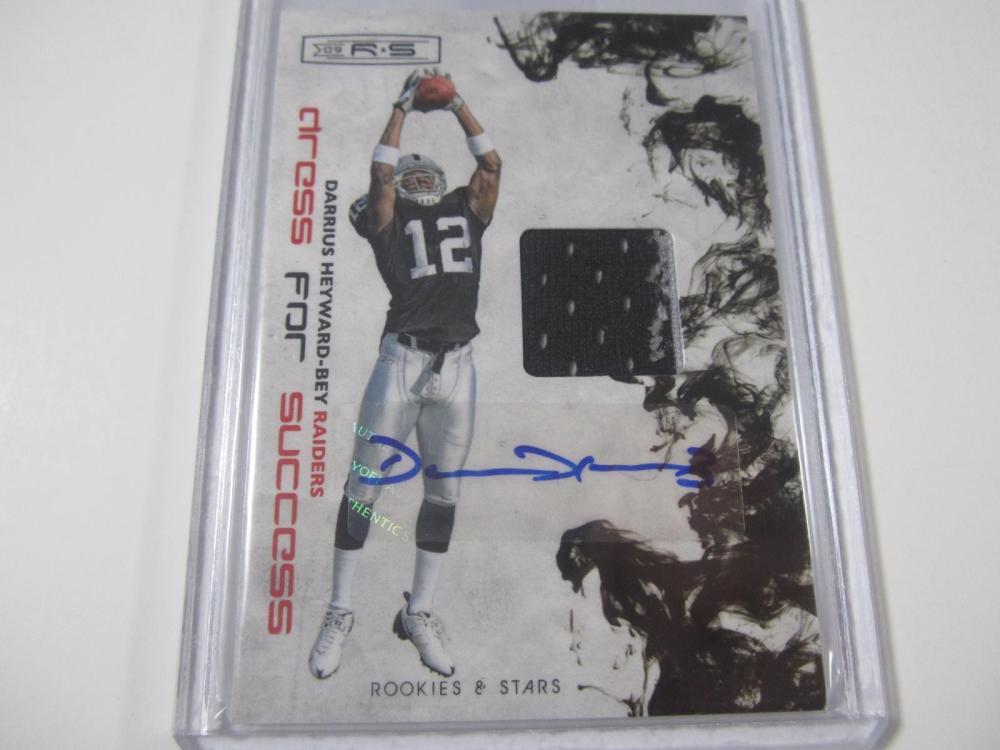 Darrius Heyward Bey Raiders Rookies & Stars Piece of Jersey Card