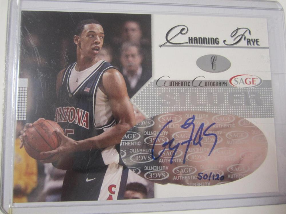 Channing Frye 2005 Sage Hand Signed Autographed Card Certified