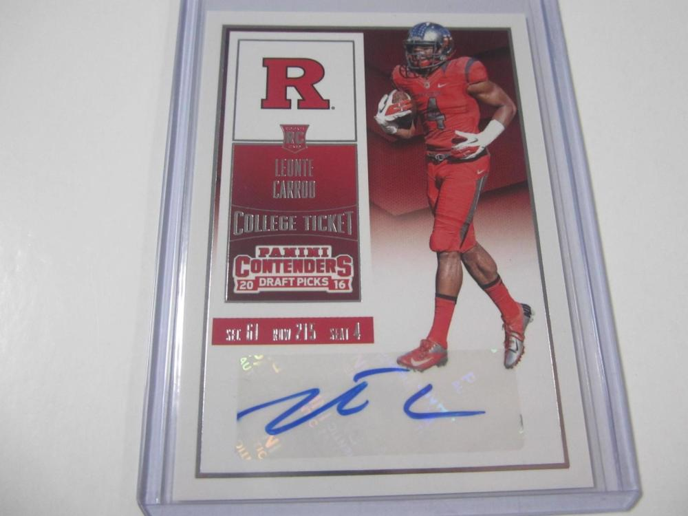 Leonte Carroo 2016 Contenders Rookie Ticket Autographed