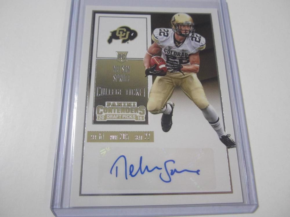 Nelson Spurce 2016 Contenders Rookie Ticket Autographed