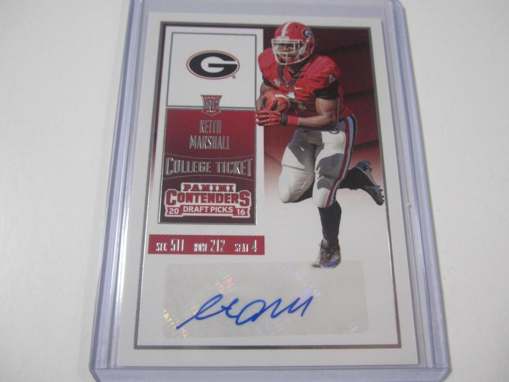 Keith Marshall 2016 Contenders Rookie Ticket Autographed