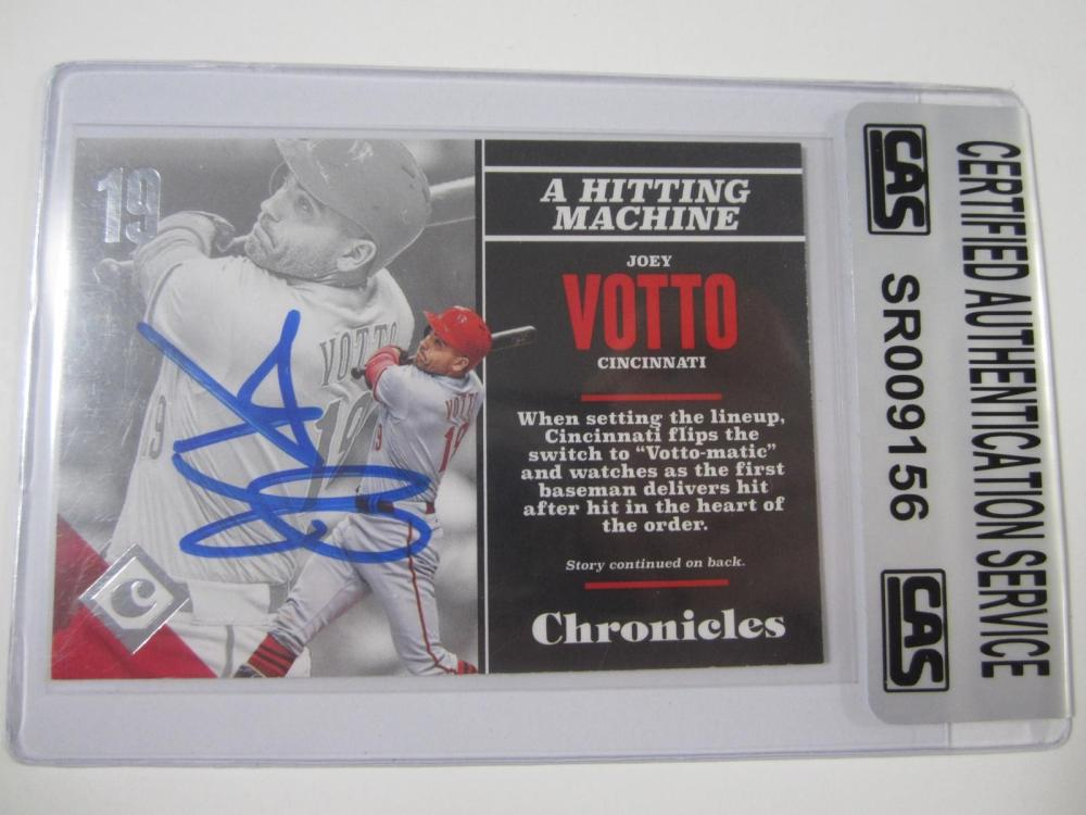 Joey Votto Cincinnati Reds Hand Signed Autographed Card CAS Certified
