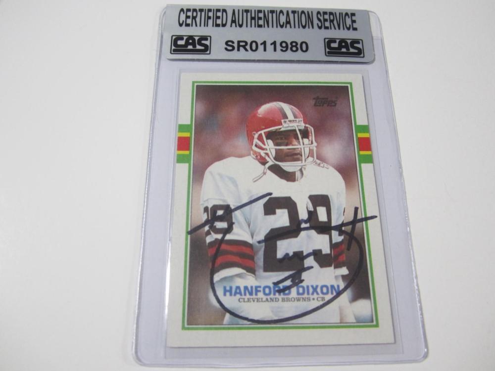 Hanford Dixon Cleveland Browns Hand Sigend Autographed Card CAS Certified