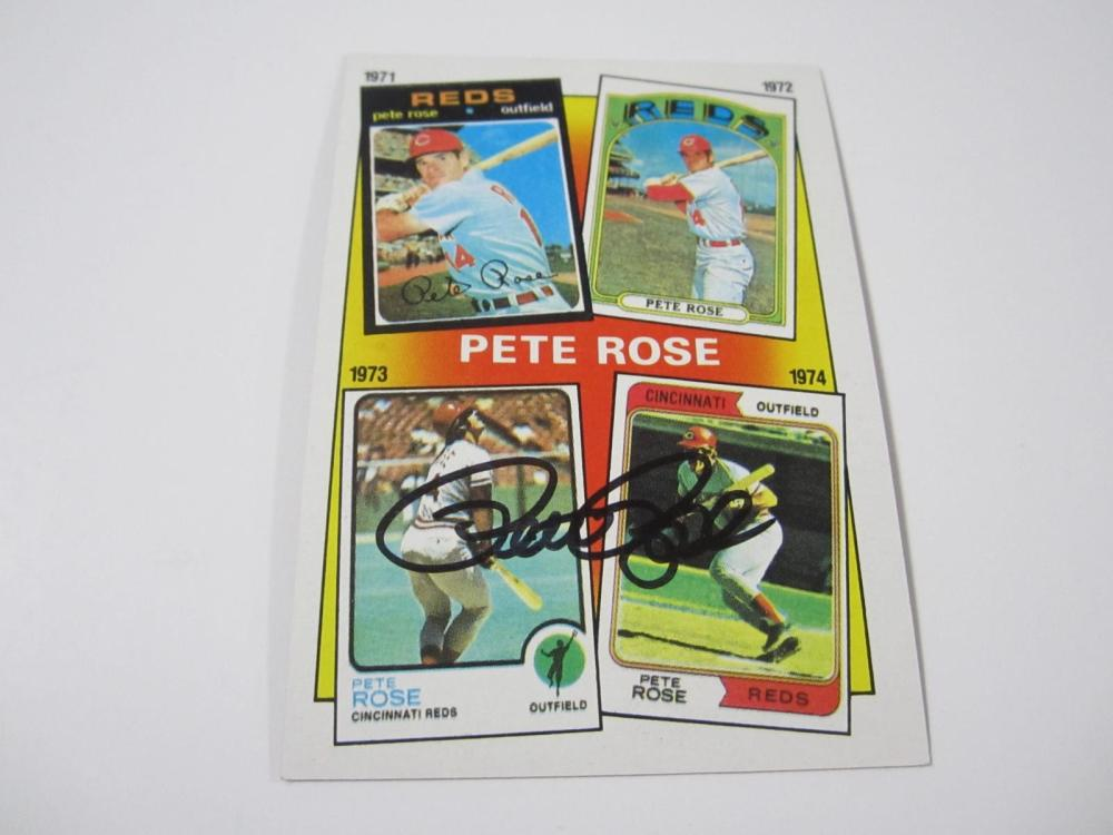 Pete Rose Cincinnati Reds 1986 Topps Hand Signed Autographed Card Certified