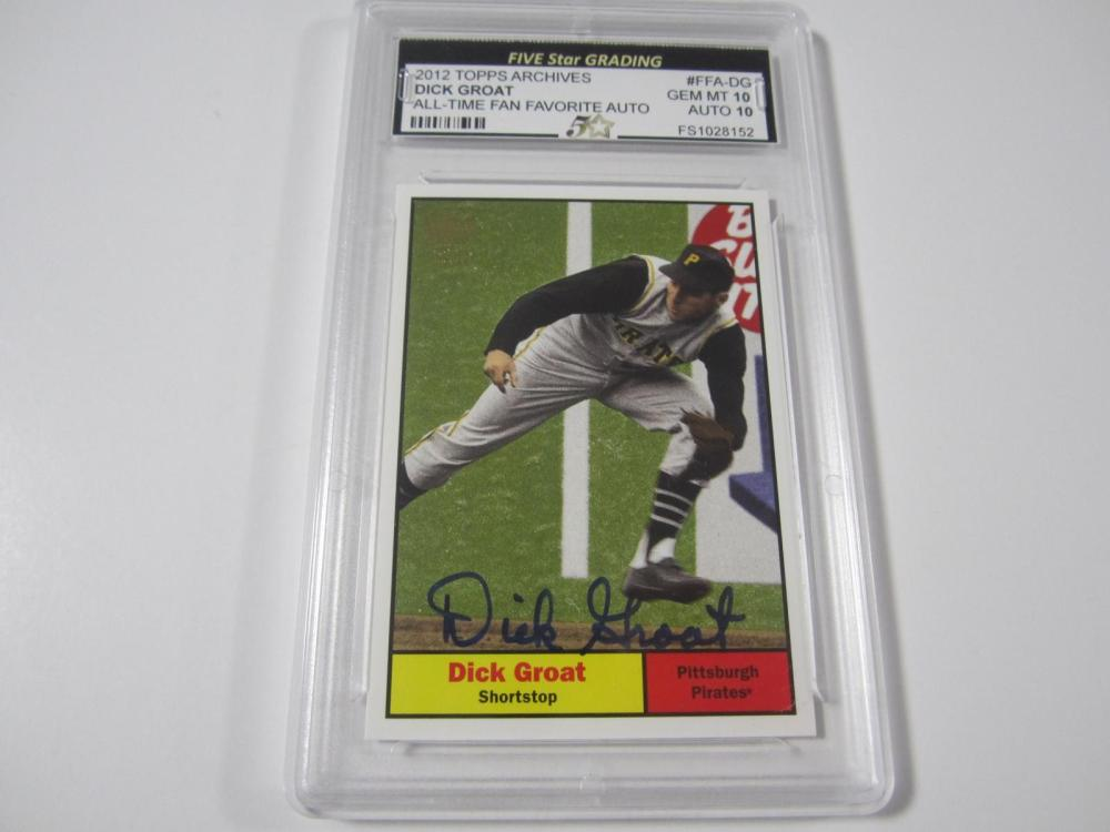 Dick Groat 2012 Topps Archives All Time Fan Favorite Auto Gem Mt 10 Auto 10 Five Star