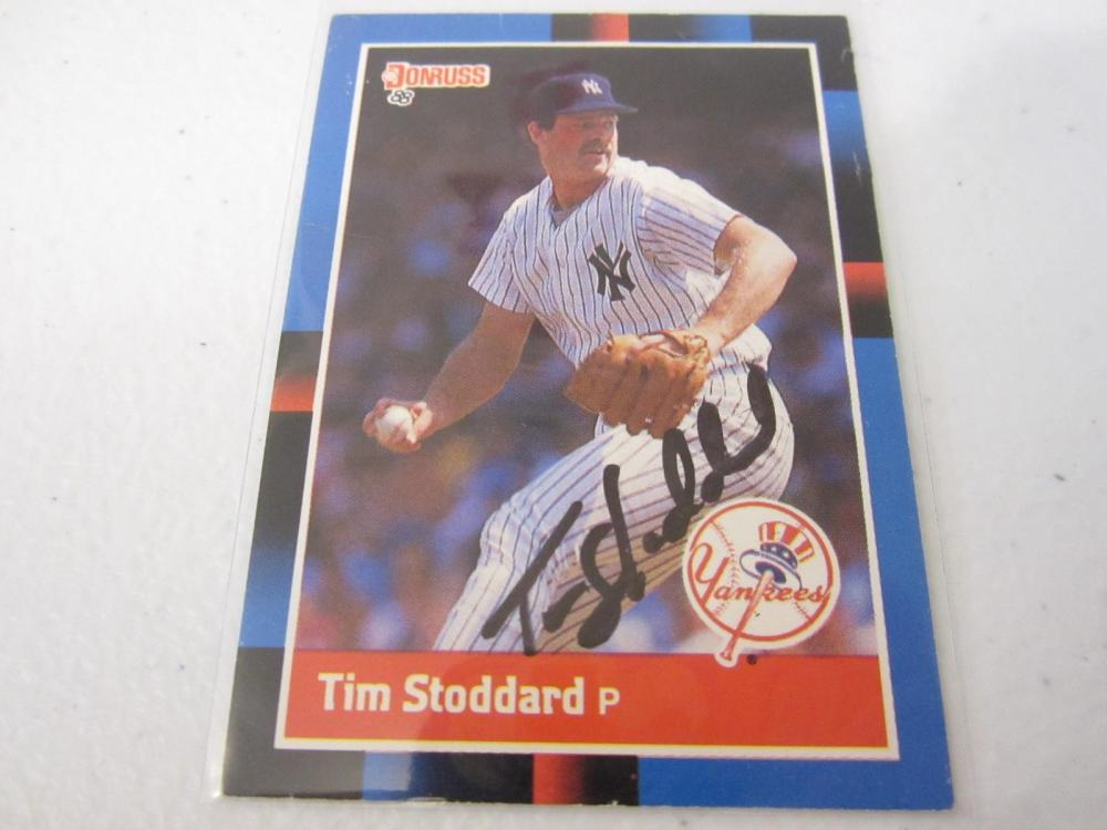 TIM STODDARD YANKEES SIGNED AUTOGRAPHED CARD COA