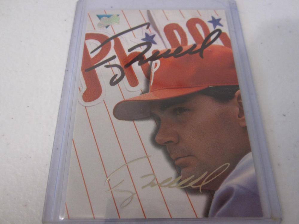 TERRY MULHOLLAND PHILLIES SIGNED AUTOGRAPHED CARD COA