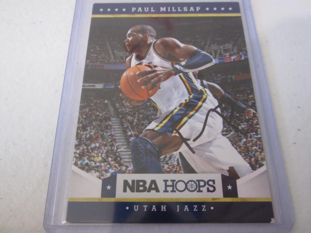 PAUL MILLSAP JAZZ SIGNED AUTOGRAPHED CARD COA