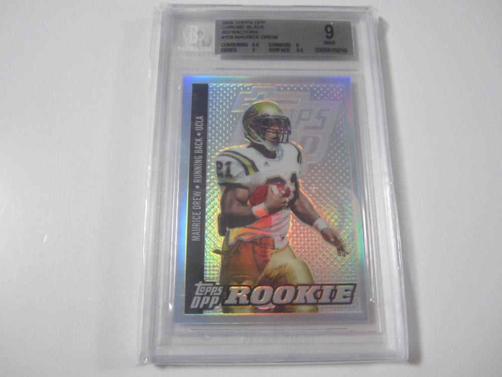 Maurice Drew UCLA 2006 Topps DPP Chrome Black Rookie Card Mint 9 Beckett