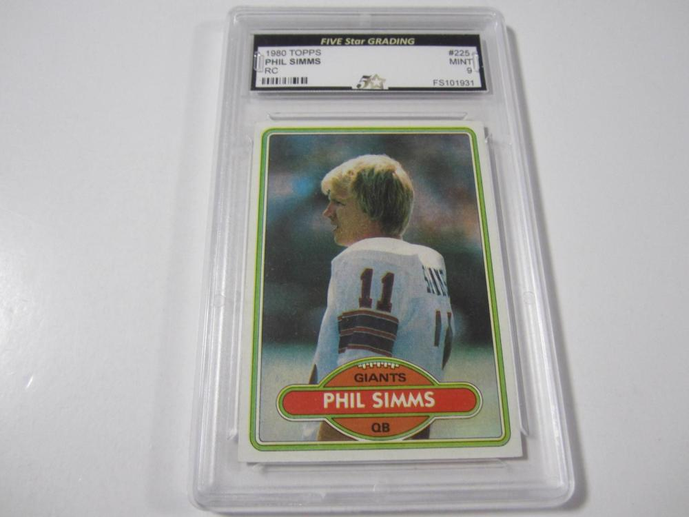 Phil Simms 1980 Topps Rookie Mint 9 Five Star Grading