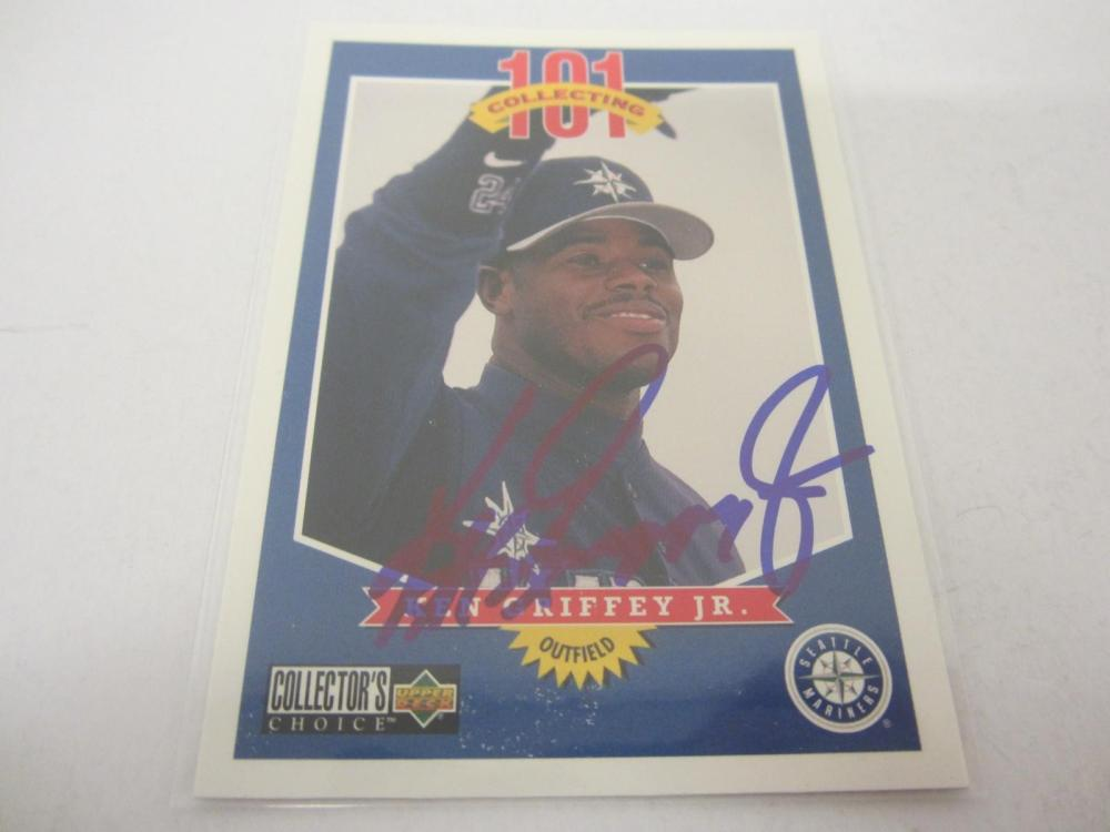 Ken Griffey Jr Seattle Mariners Hand Signed Autographed Upper Deck Trading Card Certified