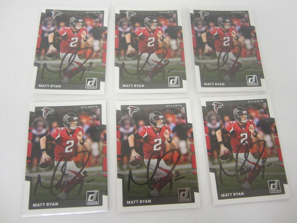 Matt Ryan Altanta Falcons Hand Signed Autographed Trading Cards Lot of 6 Certified