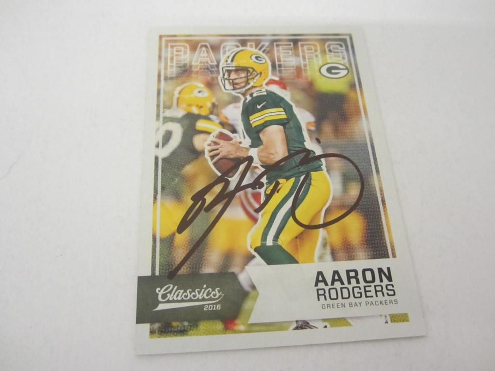 Aaron Rogers Green Bay Packers Hand Signed Autographed 2016 Classics Trading Card Certified