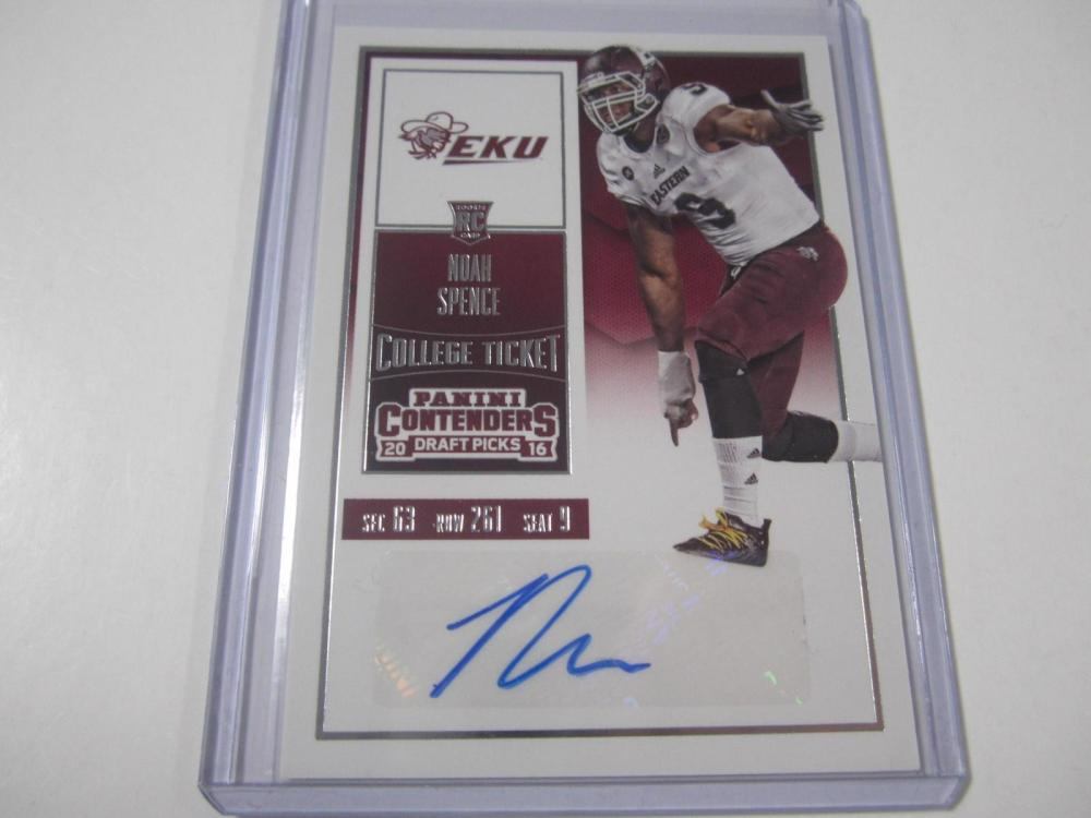 Noah Spence 2016 Contenders Rookie Ticket Autographed