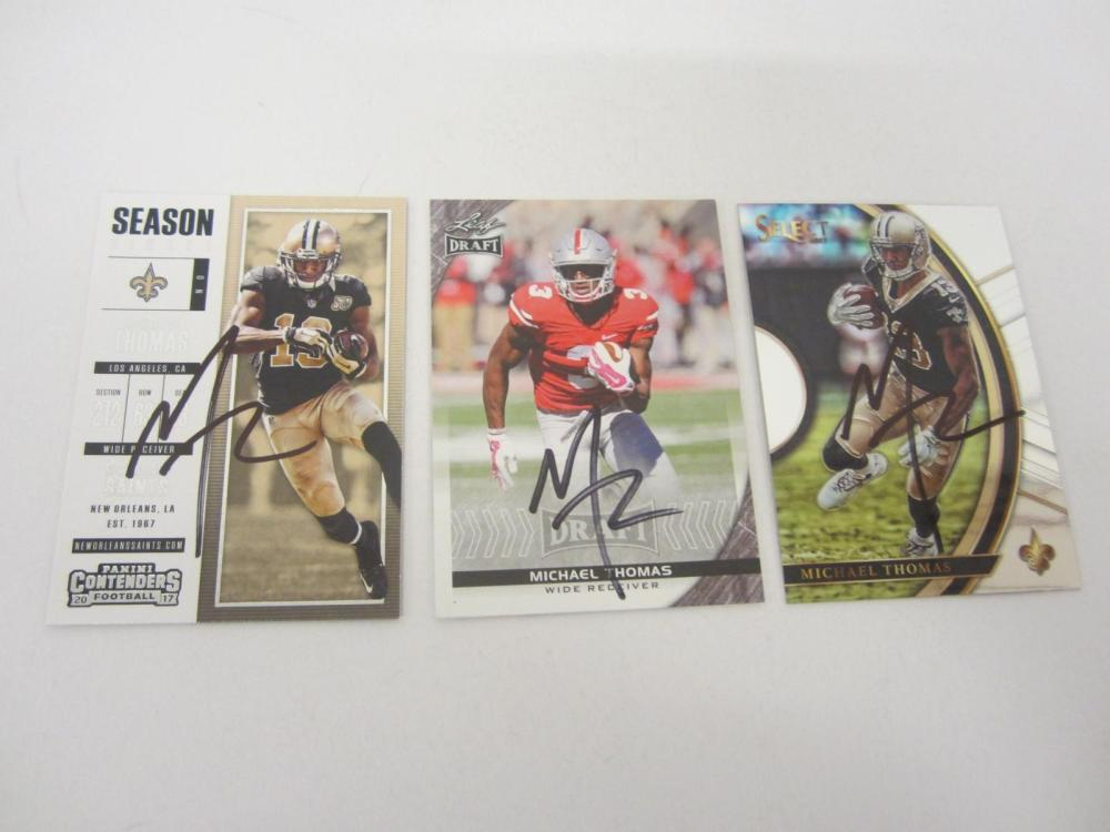 Michael Thomas New Orleans Saints Hand Signed Autographed Trading Cards Lot of 3 Certified