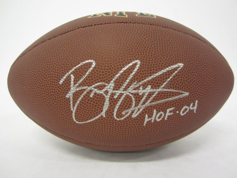 BARRY SANDERS SIGNED AUTOGRAPHED NFL SUPERGRIP FOOTBALL COA