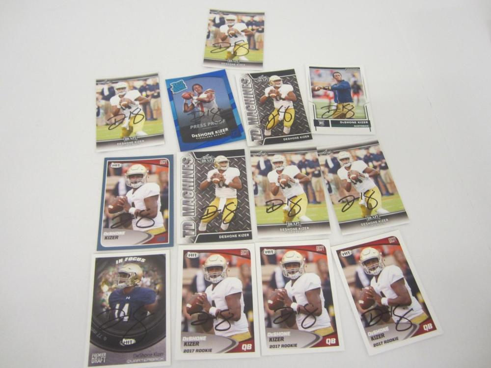 Deshone Kizer Hand Signed Autographed Trading Cards Lot Certified