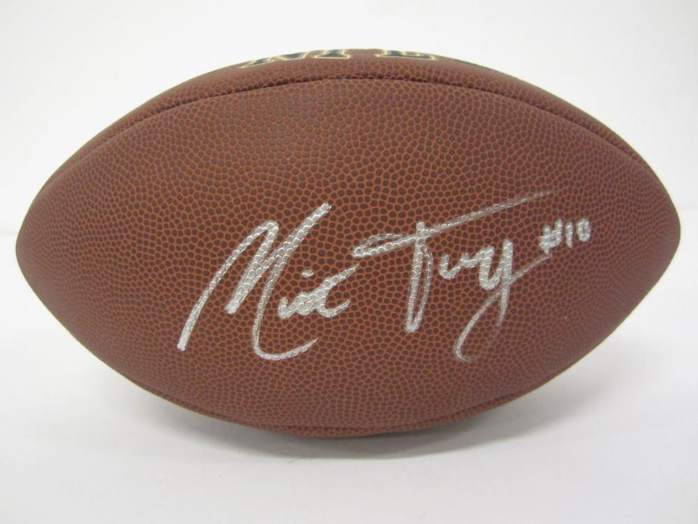 MITCHELL TRUBISKY SIGNED AUTOGRAPHED NFL SUPERGRIP FOOTBALL COA