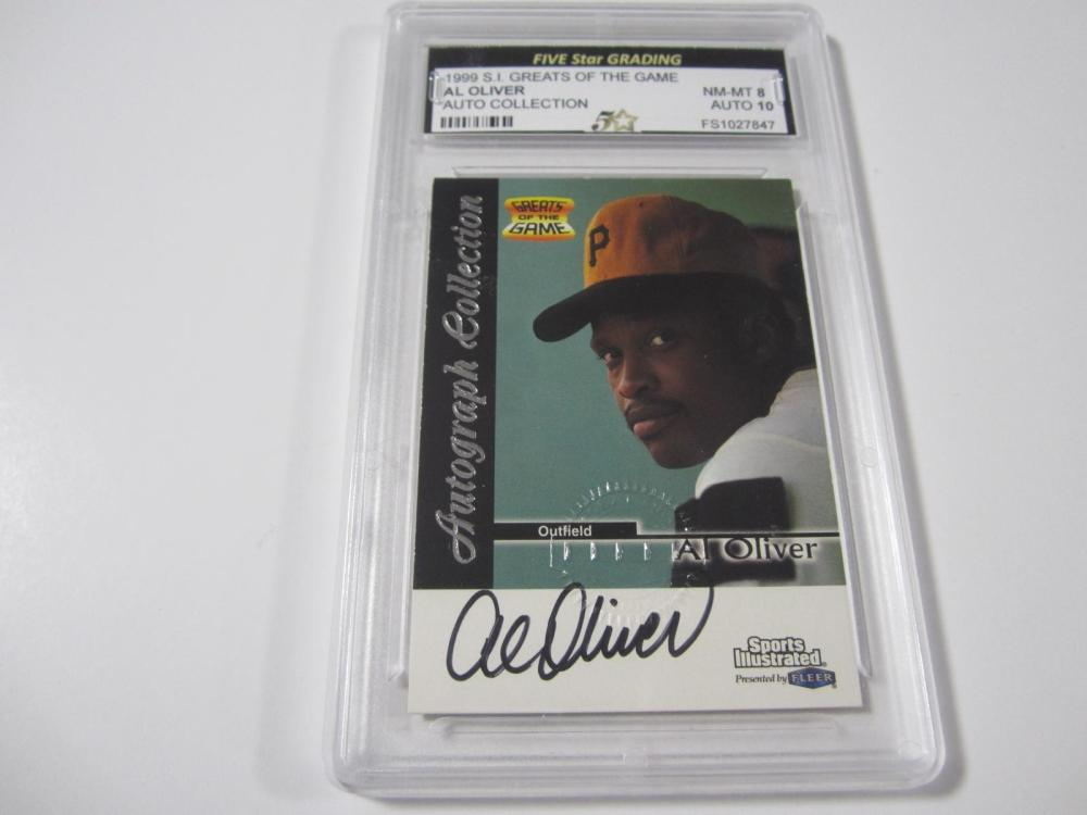 Al Oliver 1999 SI Greats of the Game Auto Collection NM MT 8 Auto 10 Five Star