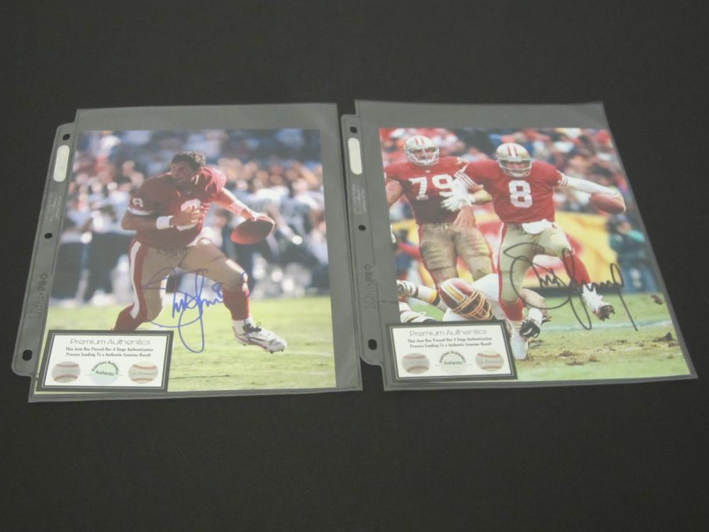(2)STEVE YOUNG SIGNED AUTOGRAPHED 49ERS 8X10 COA