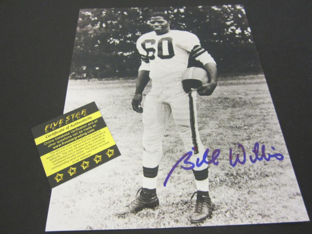 BILL WILLIS SIGNED AUTOGRAPHED BROWNS 8X10 COA