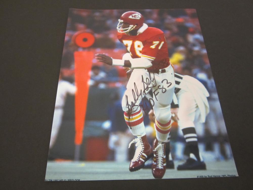 BOBBY BELL SIGNED AUTOGRAPHED CHIEFS 8X10 COA