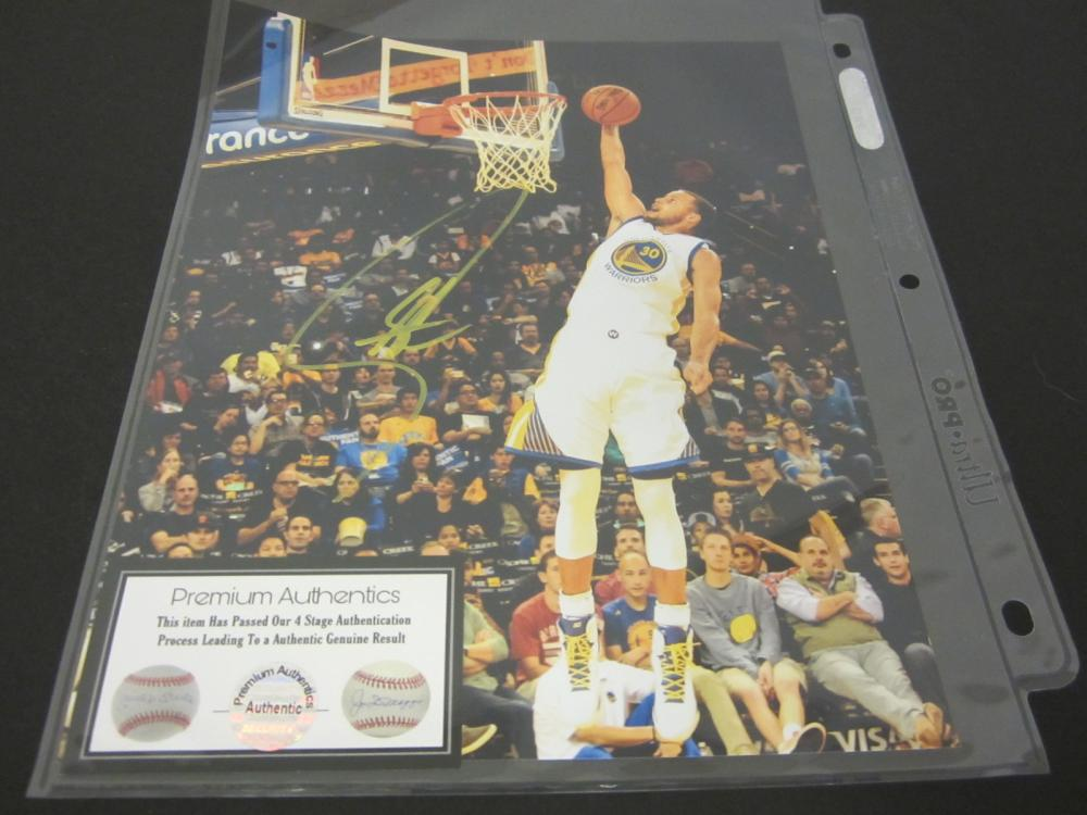 STEPHEN CURRY SIGNED AUTOGRAPHED WARRIORS 8X10 COA