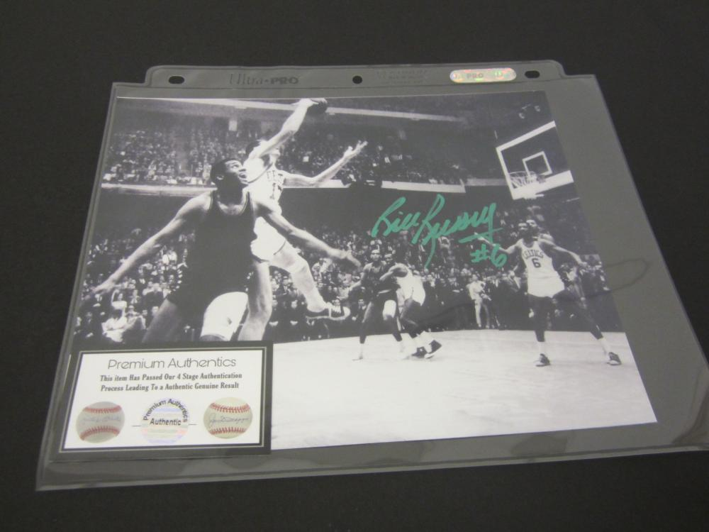 BILL RUSSELL SIGNED AUTOGRAPHED CELTICS 8X10 COA