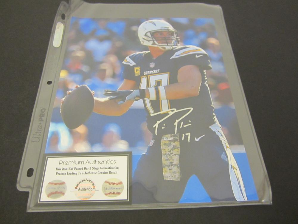 PHILLIP RIVERS SIGNED AUTOGRAPHED CHARGERS 8X10 COA