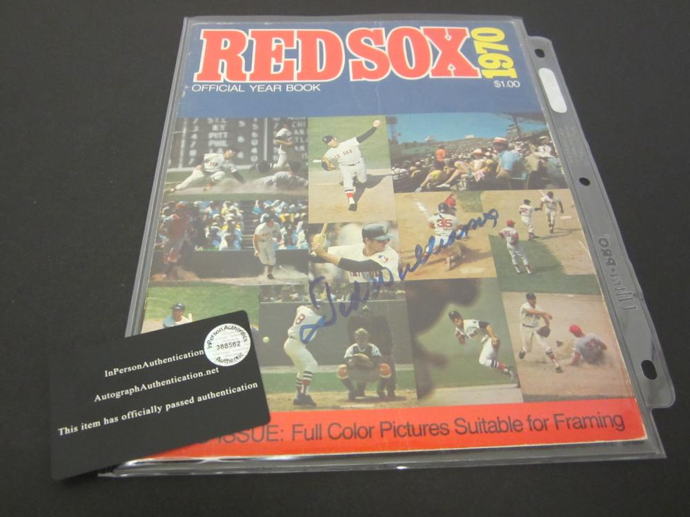 TED WILLIAMS SIGNED AUTOGRAPHED REDSOX MAGAZINE COA