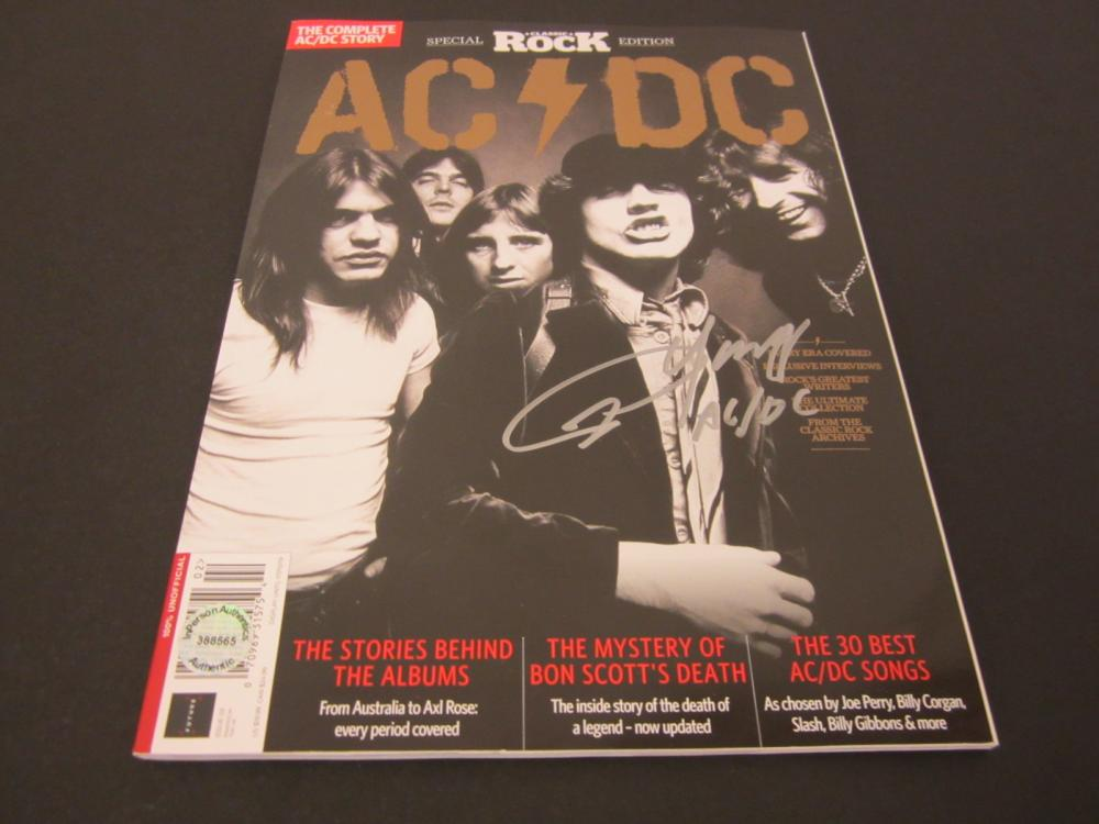 ANGUS YOUNG SIGNED AUTOGRAPHED AC/DC MAGAZINE COA