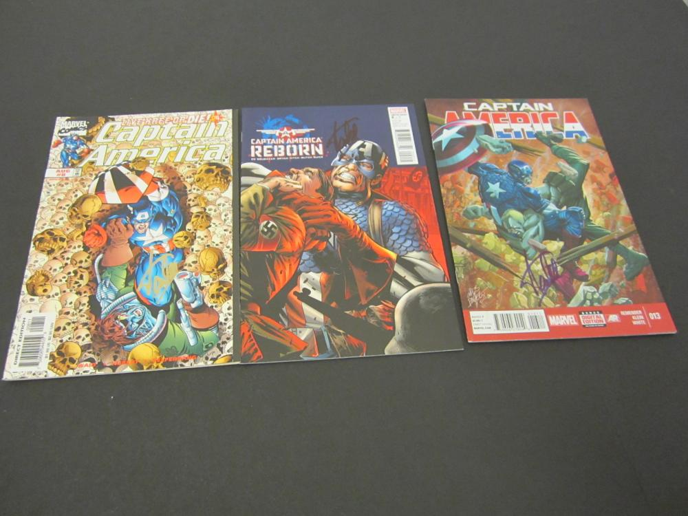 (3)STAN LEE SIGNED AUTOGRAPHED MARVEL COMIC BOOKS COA