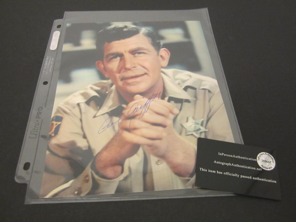 ANDY GRIFFITH SIGNED AUTOGRAPHED 8X10 COA