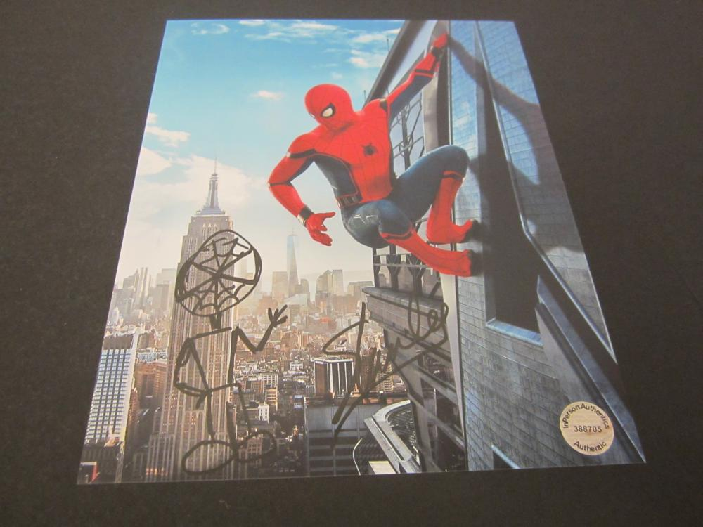 STAN LEE SIGNED AUTOGRAPHED SPIDER-MAN 8X10 W/DRAWING COA