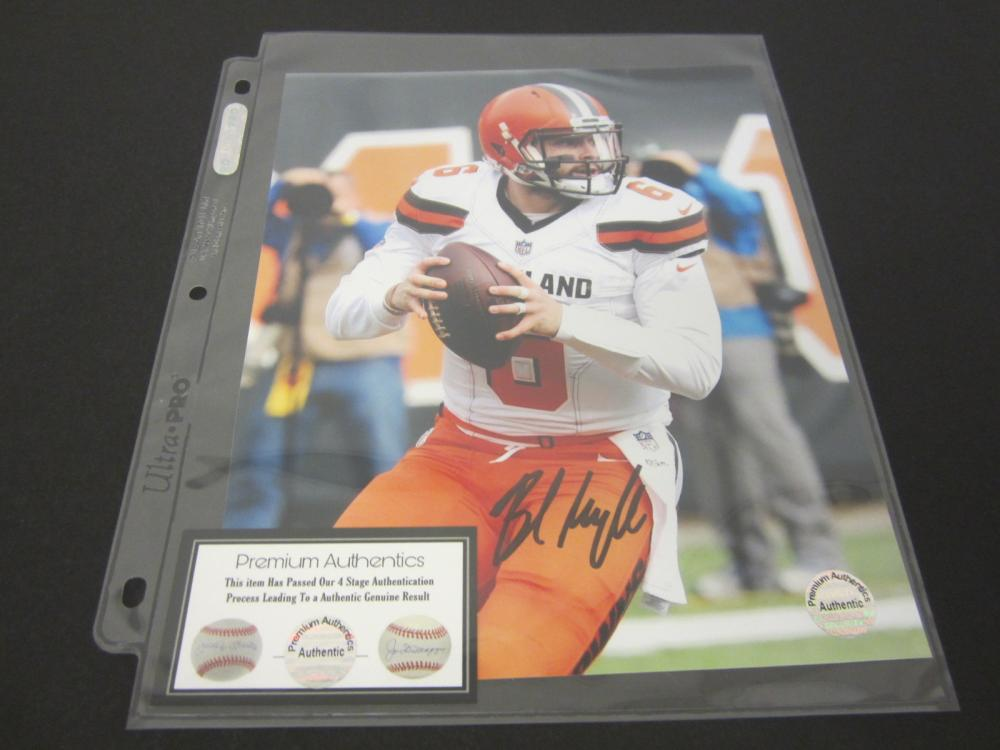 BAKER MAYFIELD SIGNED AUTOGRAPHED BROWNS 8X10 COA