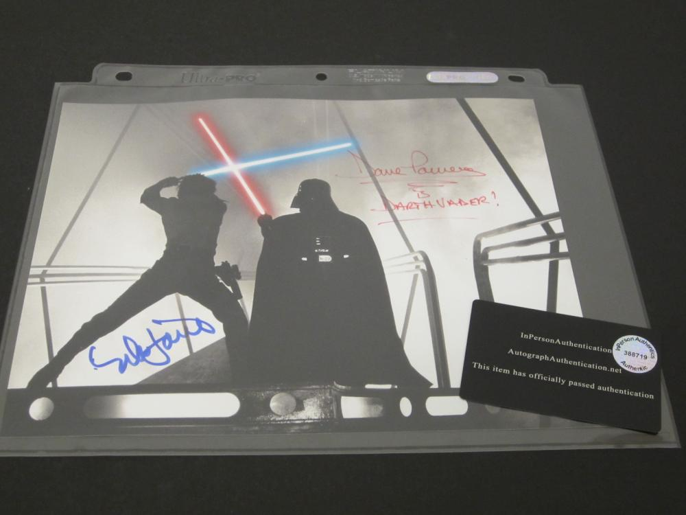 MARK HAMILL,DAVID PROWSE SIGNED AUTOGRAPHED STAR WARS 8X10 COA