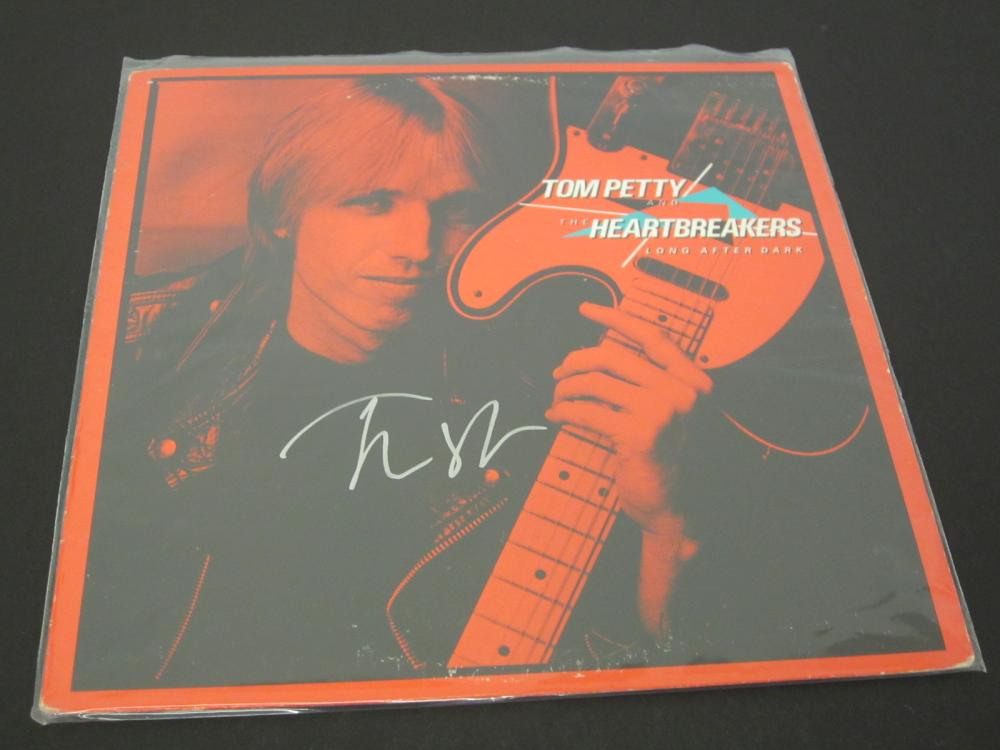 TOM PETTY SIGNED AUTOGRAPHED RECORD COA