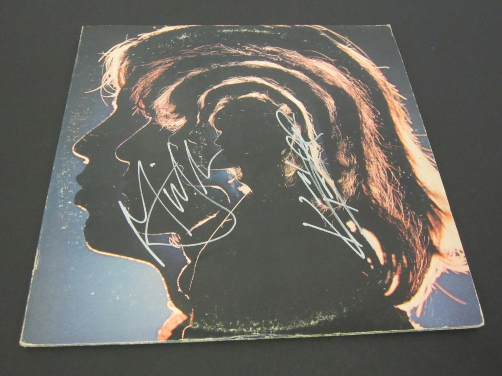 ROLLING STONES BAND SIGNED AUTOGRAPHED RECORD COA MICK JAGGER,KEITH RICHARDS