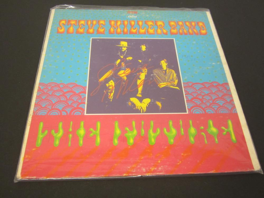 STEVE MILLER SIGNED AUTOGRAPHED RECORD COA