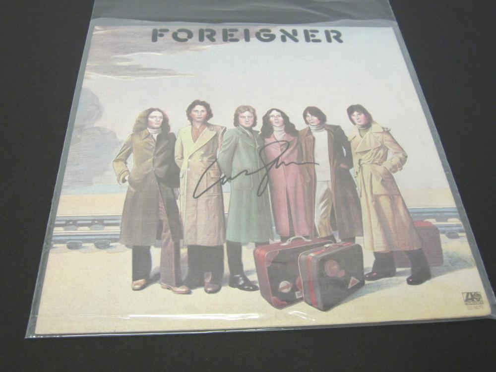 FOREIGNER SIGNED AUTOGRAPHED RECORD COA LOU GRAMM