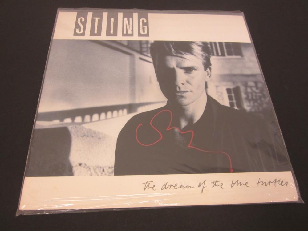 STING SIGNED AUTOGRAPHED RECORD 8X10 COA