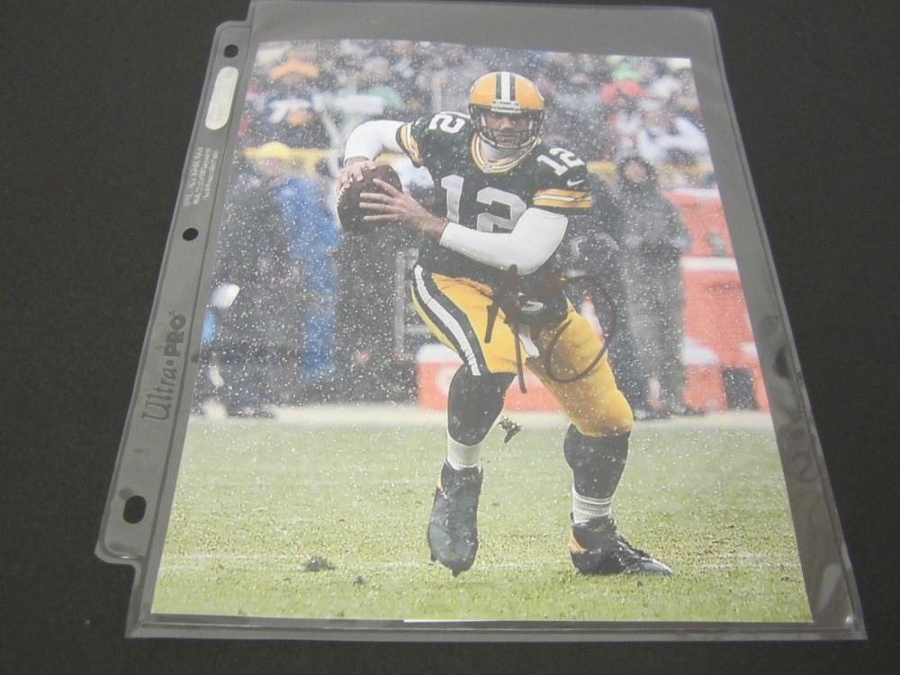 AARON RODGERS SIGNED AUTOGRAPHED 8X10 COA