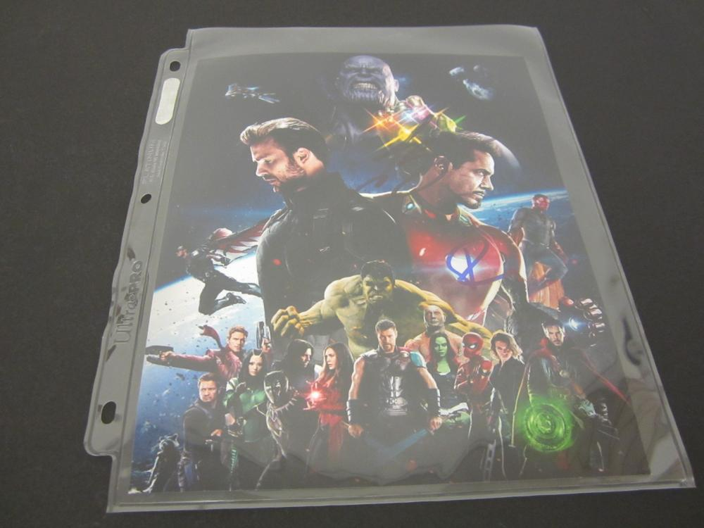 MARVEL AVENGERS SIGNED AUTOGRAPHED 8X10 COA BROLIN,DOWNEY